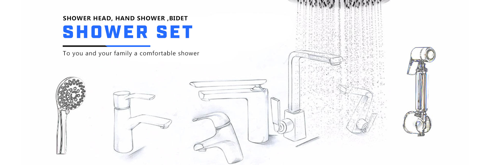 hand shower shattaf rainfall shower head shower set shower faucet  shower hose